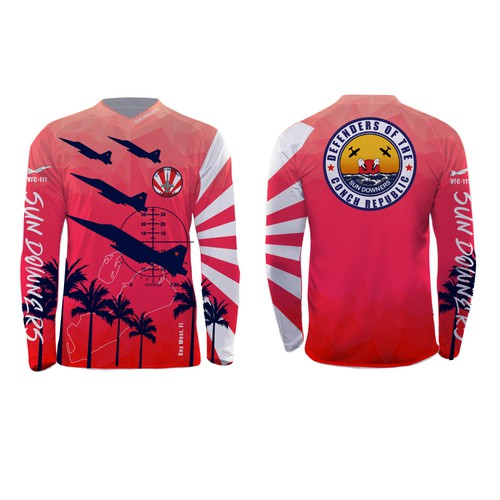 Key West based U.S. Navy fighter squadron fishing shirt