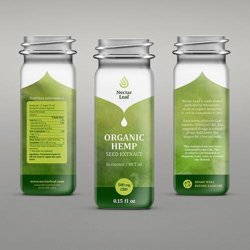 Packaging design for organic hemp oil