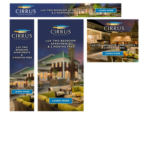 Cirrus Ad Banner set