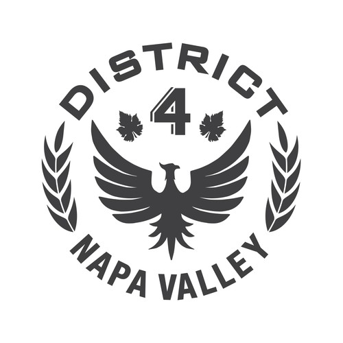 """Looking for a design for """"District 4"""" wine logo/label.  Idea of what is wanted attached!"""