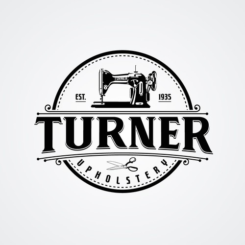 Classic Logo for Upholstery Company