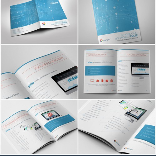 Brochure design for Hot Project - Online Software Company