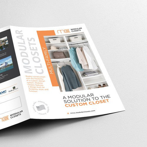 Brochure design for Modular Closets