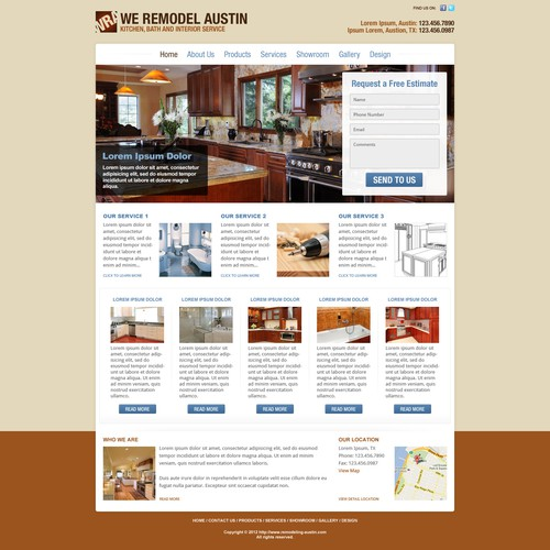 New website design wanted for We Remodel Austin