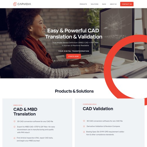 B2B Redesign for Home Page & Product Page