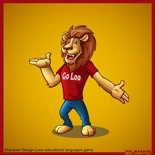 Create an engaging character for Go Loco! an educational languages game