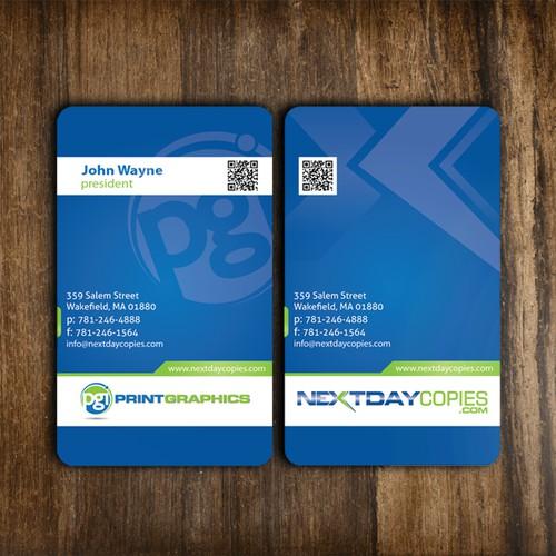 PrintGraphics / NextDayCopies visit card