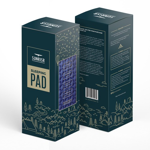 Friendly packaging for a quality sleeping pad