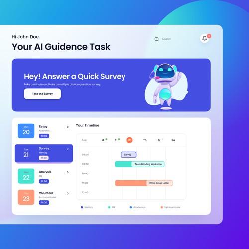 Modern Web Application Design for AI High School Counsellor Platform