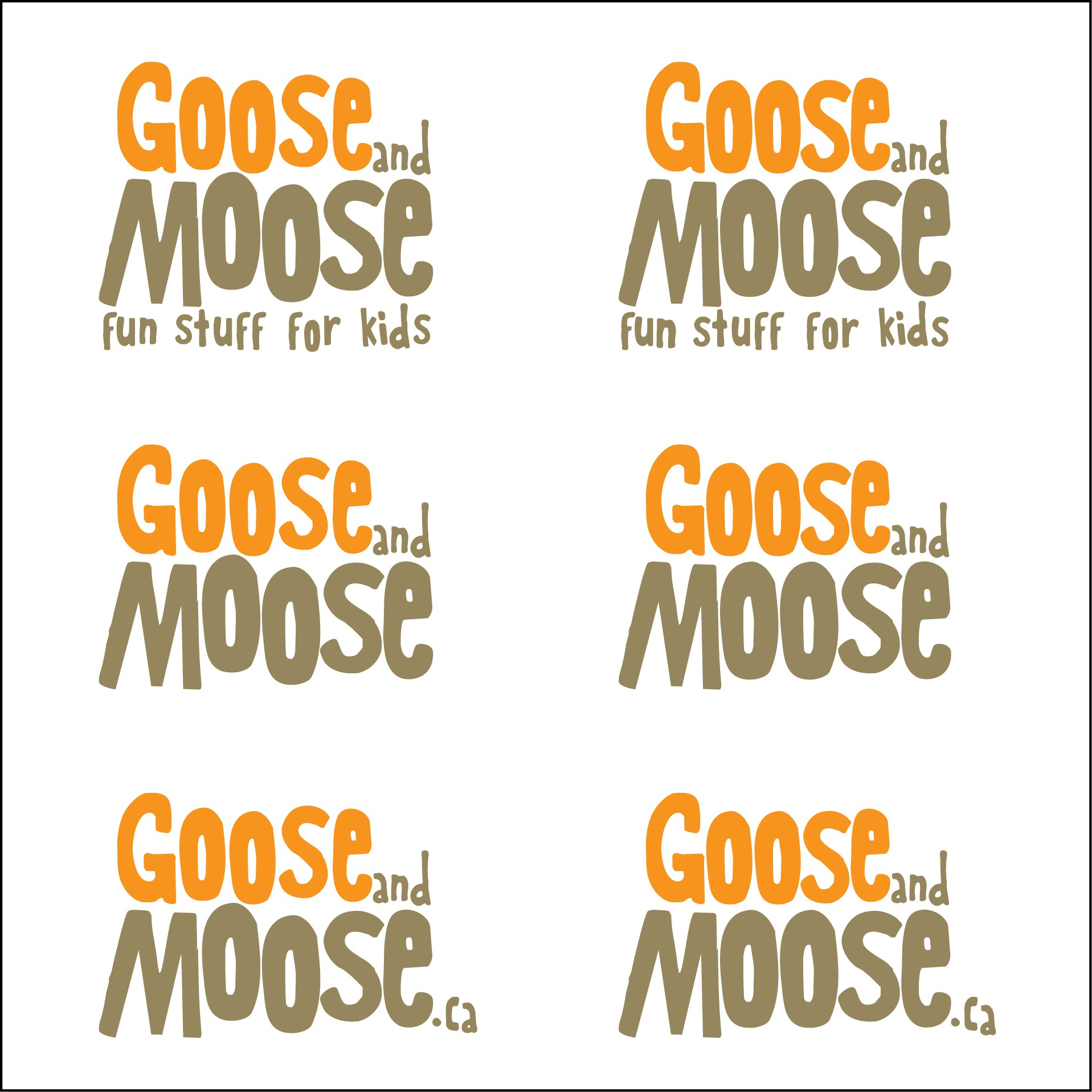 Create the next logo for Goose and Moose