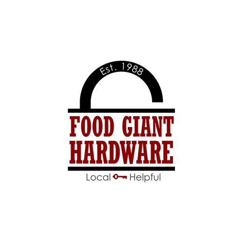 Bold logo concept for a small town hardware store