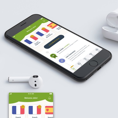 Language Learning App Design Concept
