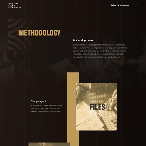 Methodology page for Kleio