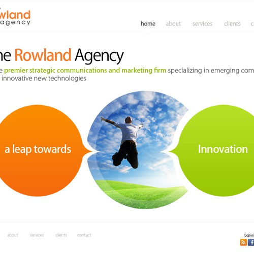 website design for The Rowland Agency