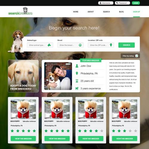 Pet breeder website