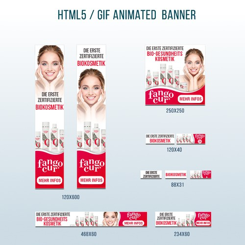 Banner design for organic natural cosmetics