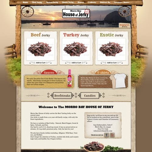 Morro Bay House of Jerky needs a new website design