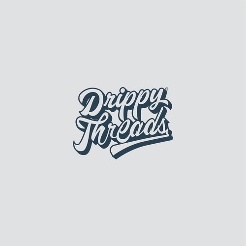 Lettering Logo For Drippy Threads Apparel