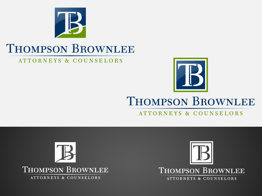 Create the next logo for Thompson Brownlee Law