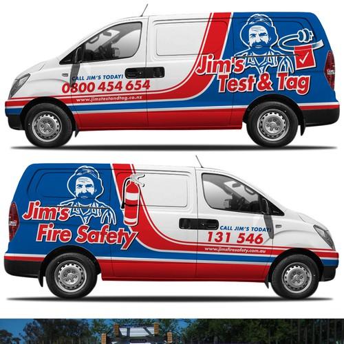 Jim's Test & Tag/Fire Safety Hyundai iLoad Van Wrap