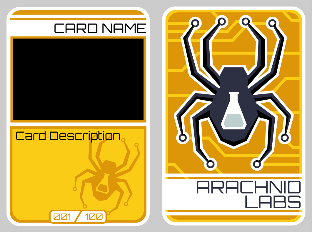 Help Arachnid Labs with a clever promotional trading card design