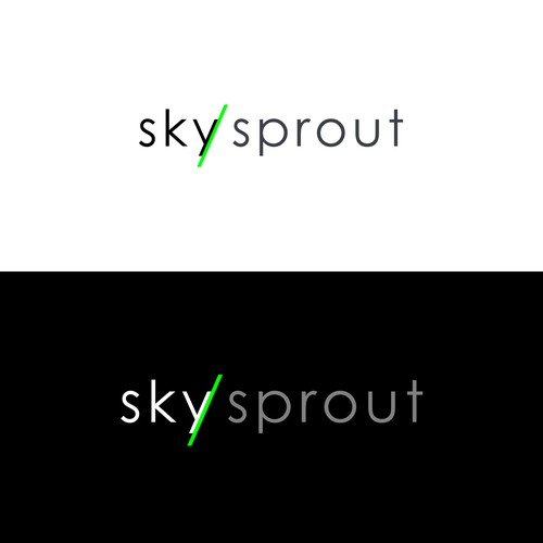 sky sprout logo concept