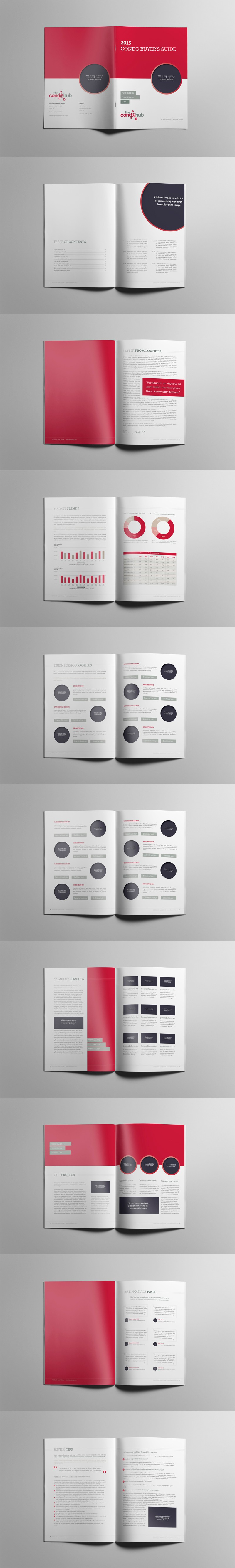 Create an Indesign template for a condo buyer guide