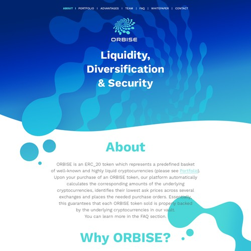 Landing page for ORBISE
