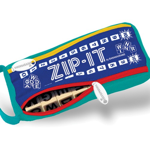 Bananagrams, Inc. needs a new design for ZIP-IT packaging!!