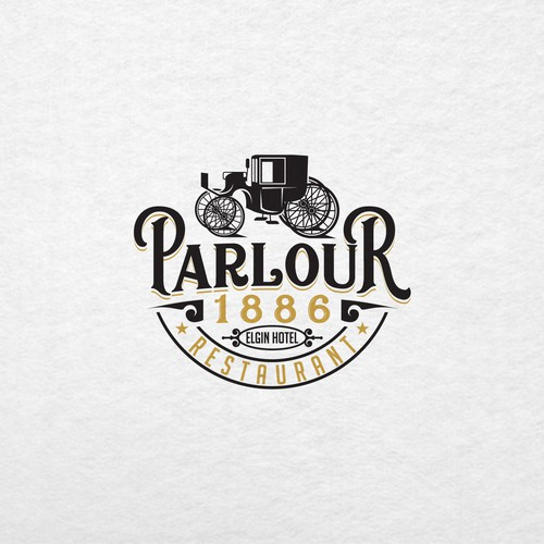 Retro type Logo for Fun new restaurant and lounge in historic Victorian boutique hotel