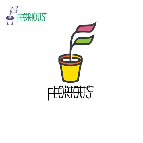 florious logo design