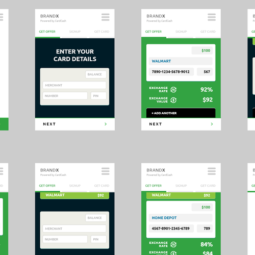 GiftCard Exchange Mobile App Design