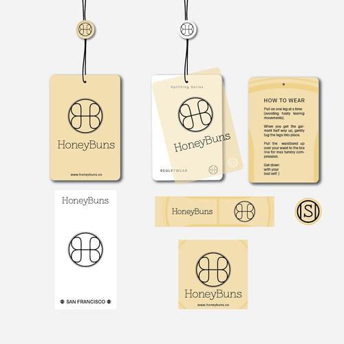 Designs for HoneyBuns fashion brand.