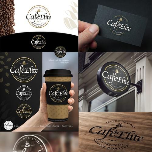 Elite coffee brand design