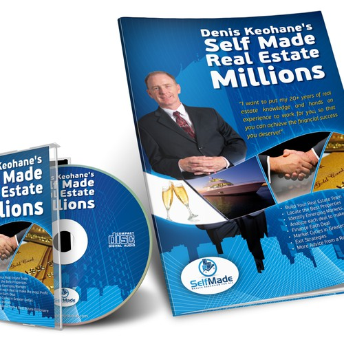 Denis Keohane's  Self Made Real Estate Millions needs a new packaging or label design