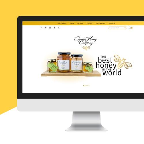Classy website for Carmel Honey