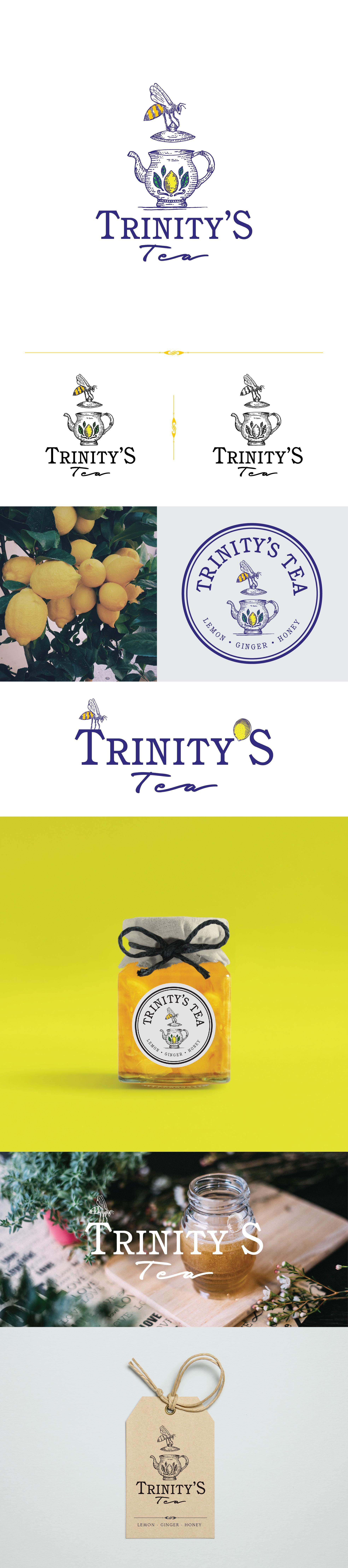 Lemon, Ginger & Honey tea needs a beautiful logo.