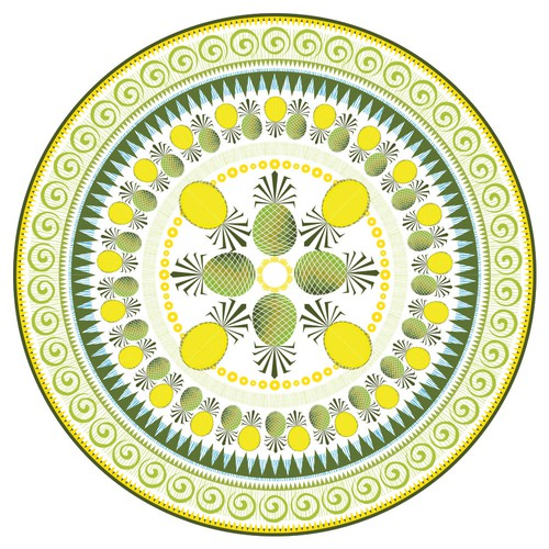 Round Design based on Pineapples