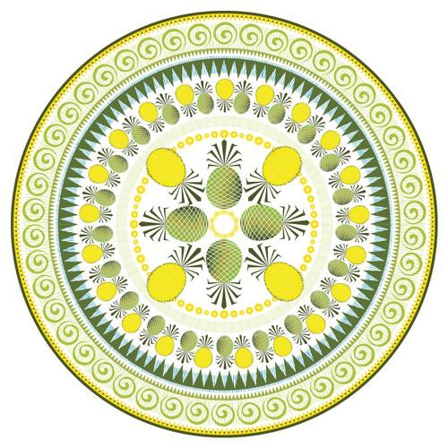 Round Design based on Pineapples