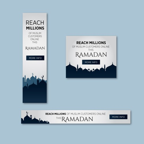 Banner ads design for Ramadan