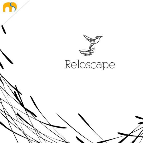 Reloscape logo and brand identity design concept