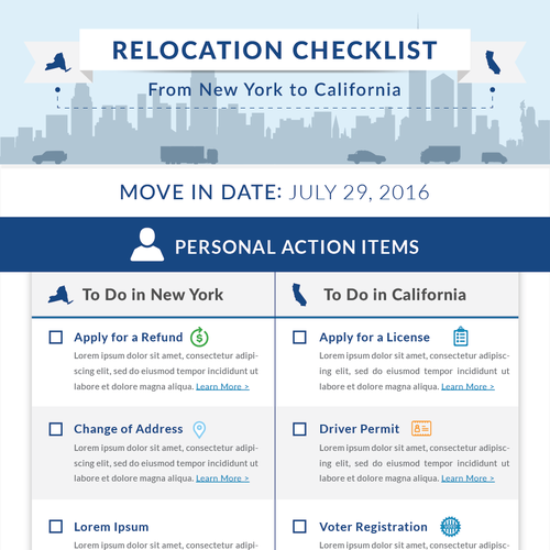 Relocation Checklist Infographic