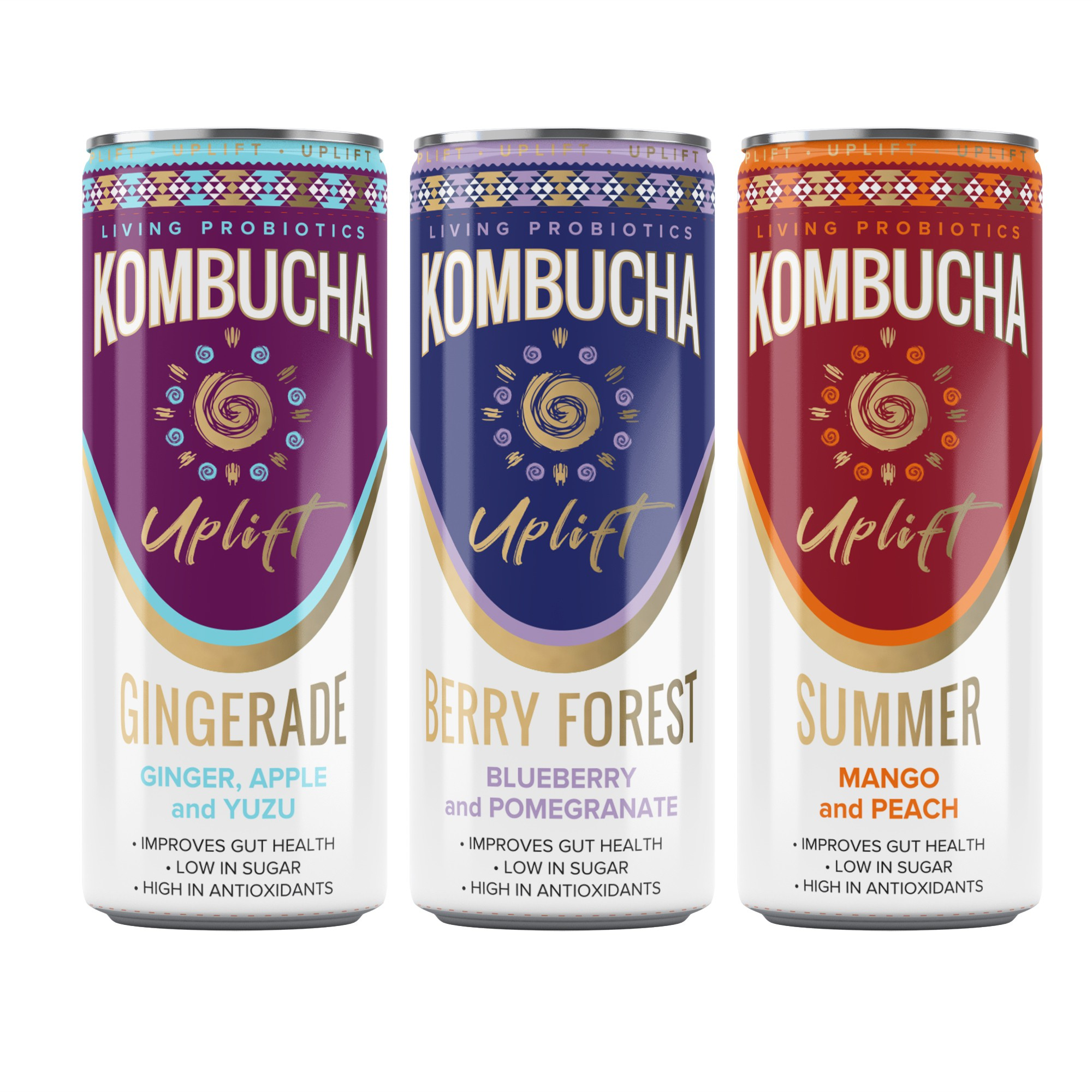 Design a can label for a kombucha brand