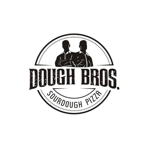 Bold logo for pizza restaurant.