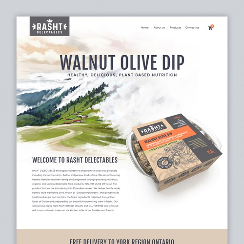 Website to Sell Natural Food products Online with Shopify