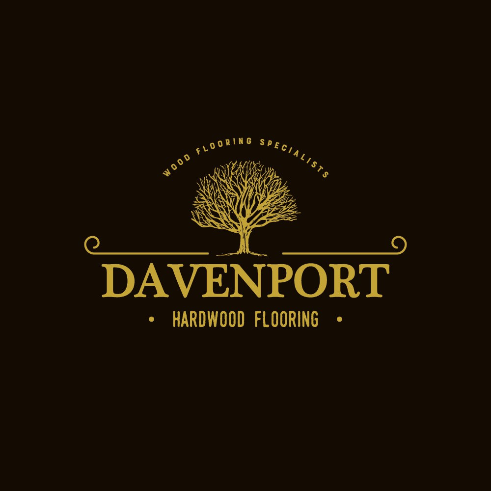 Create a modern/rustic design for Davenport Hardwood Flooring