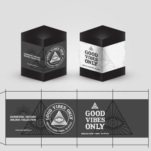 Geometric Incense Holder Collection Label