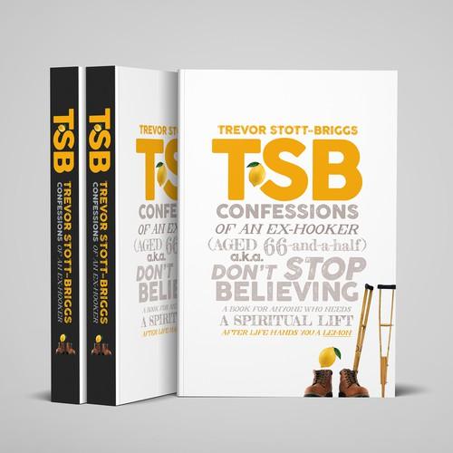 Typographic cover design for an inspiring memoir