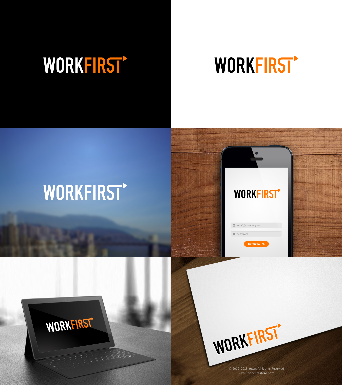 Create the logo and brand for WorkFirst