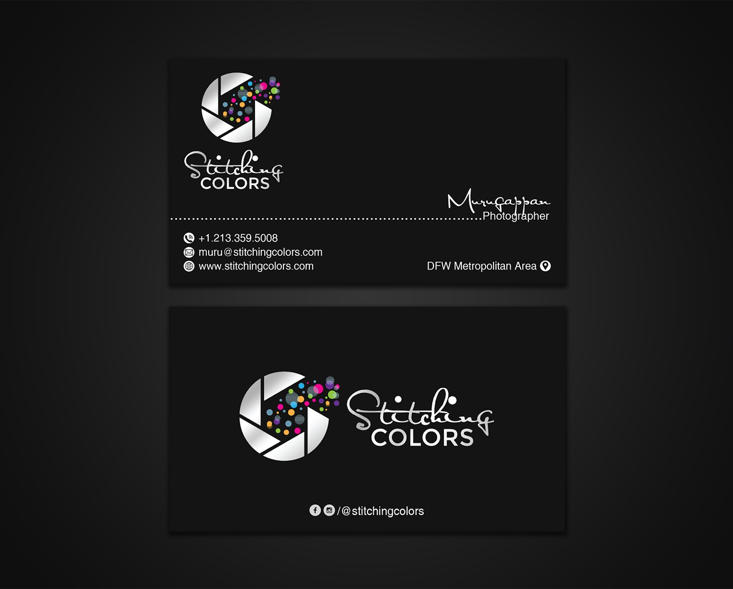 Design a classic & elegant business card for photography business